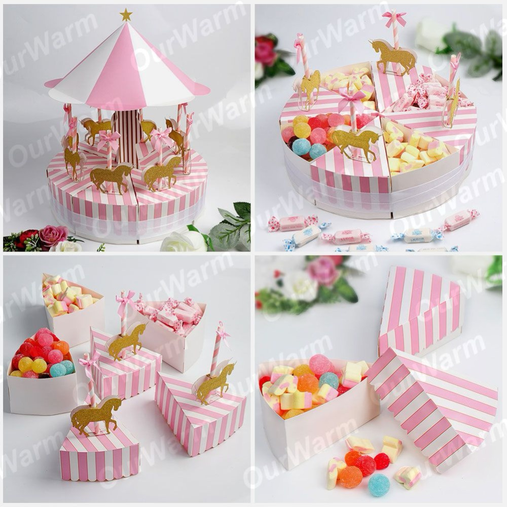 OurWarm Romantic Wedding Decorations Carousel Candy Box Wedding ...