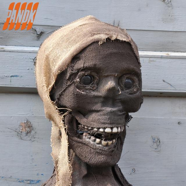 halloween mummy realistic halloween skull skeleton horror mummy bar props home decoration - Halloween Skull Decorations