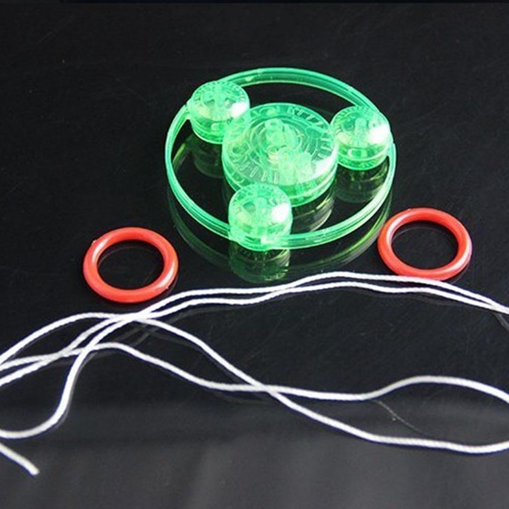 1PC Plastic Pull The Flash Flywheel Flash Gyro Fitness Glowing Pull Line Flash Flywheel Random Color