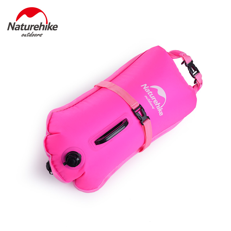 Naturehike 28L Inflating Drifting Bag Floating Marine Dry Bag Waterproof Dry Bag Outdoor Clothing Water Sports Travel in River Trekking Bags from Sports Entertainment