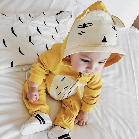 Newborn Clothes Baby Rompers Cartoon Fox Printing Lovely Toddler Romper 100% Cotton Infant Overalls Jumpsuit Infant Overalls newborn baby rompers baby clothing 100% cotton infant jumpsuit ropa bebe long sleeve girl boys rompers costumes baby romper