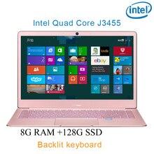 "P9-12 Rose gold 8G RAM 128G SSD Intel Celeron J3455 25 Gaming laptop notebook desktop computer with Backlit keyboard"""