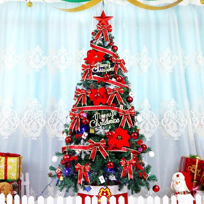 2.1 m arbre de noël ensemble grand luxe cryptage vert costume décoration de noël hôtel centre commercial disposition arbre de noël ornements cadeaux - 2