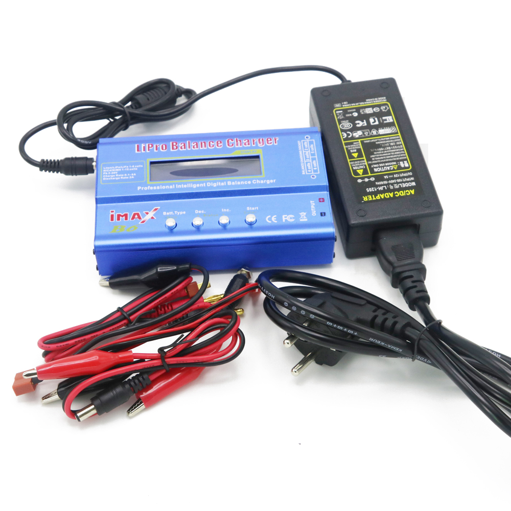 IMAX B6 Digital RC Lipo NiMh Baterai Balance Charger + AC POWER 12v 5A Adapter Grosir