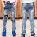 Children's Clothing Boys Jeans Pants Light Color Denim Trousers Casual Straight Slim Pants Thick & Regular Two Style 110-160