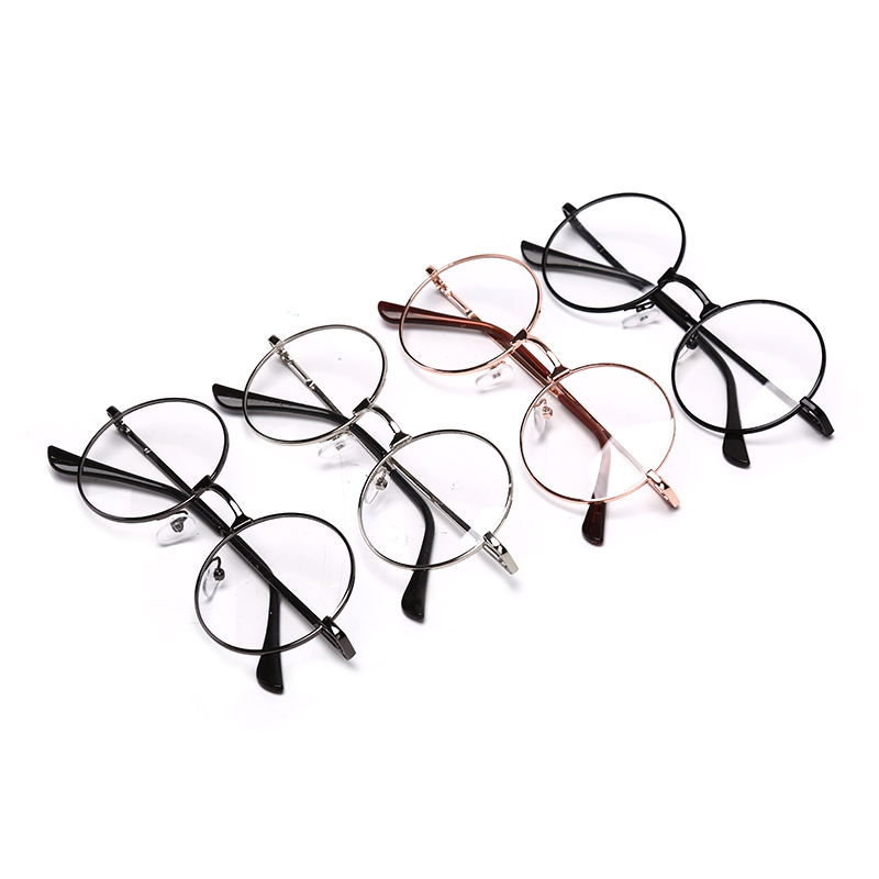 Fashion Vintage Retro Metal Frame Clear Lens Glasses Nerd Geek Eyewear Eyeglasses  Round Circle Eye Glasses Oversized(China)