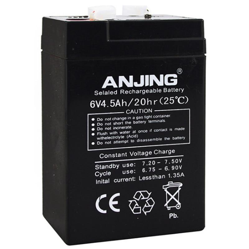 6 v 4.5AH Batterie 6V4. 5AH 4AH pour Enfants Voiture Électrique De Jouet Bébé Transporteur UPS De Sauvegarde Lampe De Bureau Plomb-acide Rechargeable Accumulateur