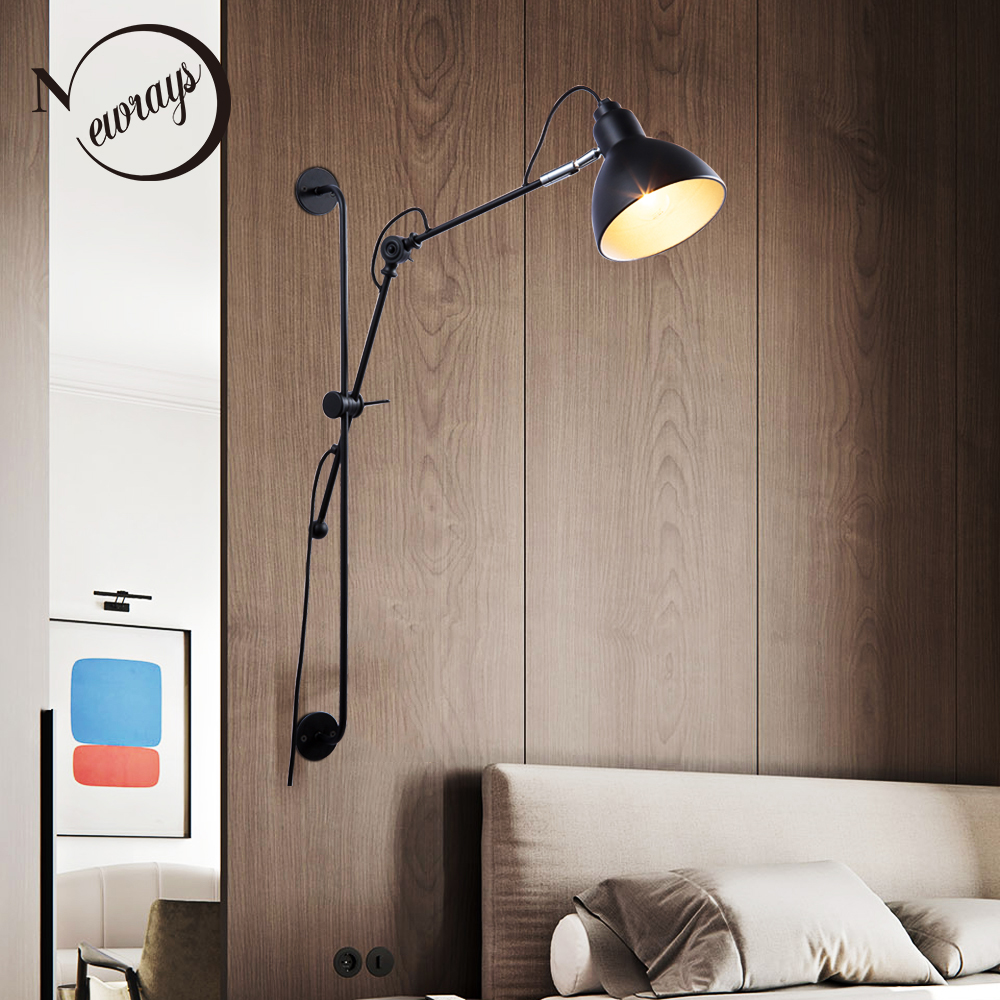 New Replica Designer adjustable vintage industrial Long swing arm modern wall lamp sconce E27 lights for