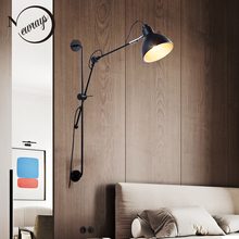 New Replica Designer adjustable antique modern industrial/Long swing arm wall lamp lights for Bathroom Vanity/sconce fixture free shipping adjustable double arms iron shade edison wall lamp industrial long arm sconce bedroom beside lamp fixture