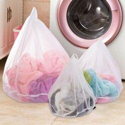 White Color Women Bra Briefs Washing Storage Case Clothes Wash Protecting for Washing Machine Mesh Bag Laundry Organizer Bag