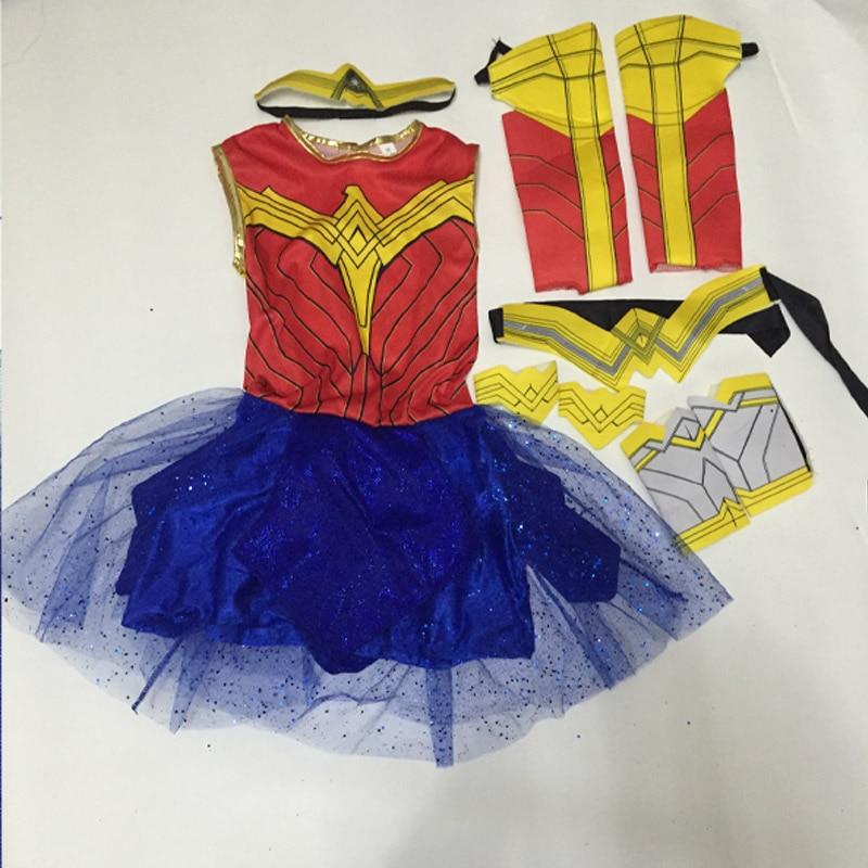 Purim Deluxe Wonder Woman Costume Cosplay Halloween Superhero Girls Child Dawn Of Justice Princess Diana Dress Up Suit (13)
