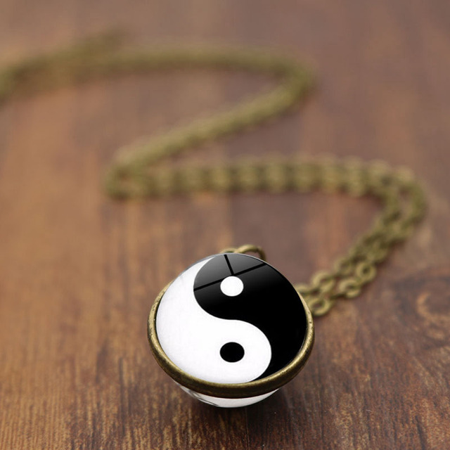 Yin Yang Ball Double Sided Pendant
