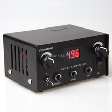 FREE SHIPPING Red LCD Digital DUAL machine TATTOO POWER SUPPLY foot pedal switch 2 clip cords!