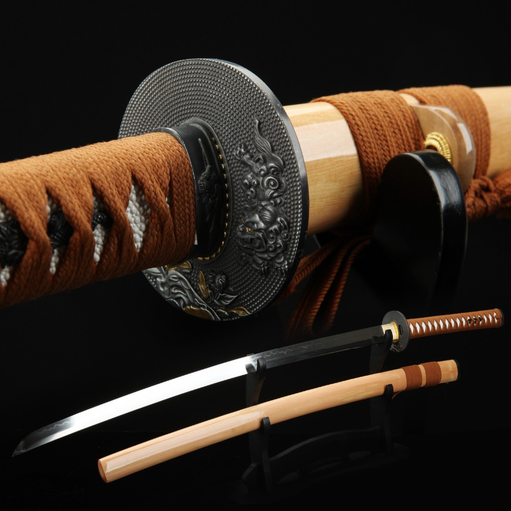 ExquisiteWood scabbard T10 tempered samurai sword. Assassin movie performance real sword katana image