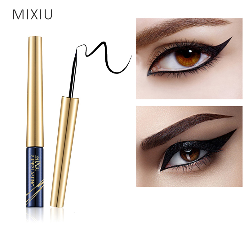 MIXIU Eyes Makeup Waterproof Eyeliner Pencil Black Liquid Eye Liner Pen Long-lasting Quick Drying For Women Cosmetic Makeup Tool