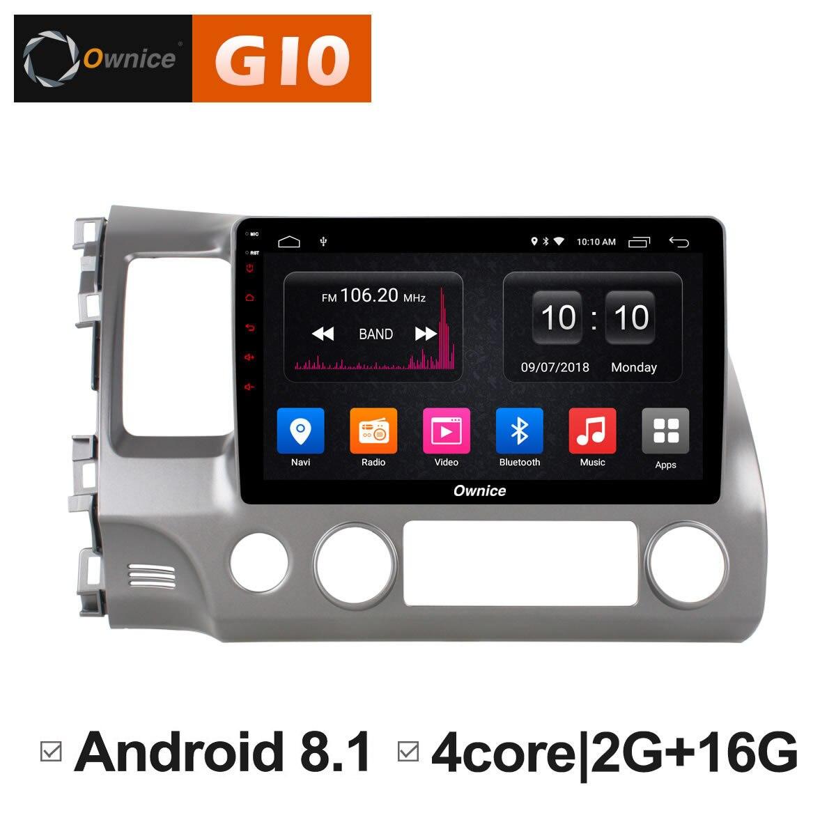 Android 8.1 unité de tête de voiture pour Honda Civic 2004 2005 2006 2008 2009 autoradio DVD GPS navigateur 4G sim système informatique Multimedai