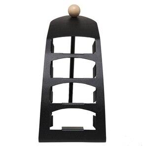Image 2 - TV uzaktan kumandası için standı Tutucu SIKAI 4 kafesler Metal Organizatör cep telefonu saklama kutusu Desteği