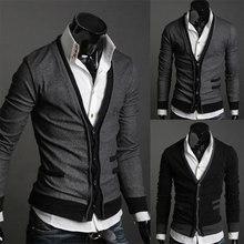 b9d04758485 Popular Black Mens Cardigan Sweater-Buy Cheap Black Mens Cardigan ...
