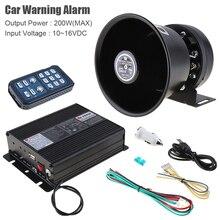 12V 200W 18 Tone Loud Car Warning Alarm Police Ambulance Firetruck Siren Horn Speaker with MIC System & Wireless Remote Control цена 2017