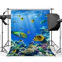 Unterwasser Welt Hintergrund Aquarium Phantasie Korallen Bunte Fisch Blau Meer Sonnenschein Lichter Sommer Meer Reise Hintergrund