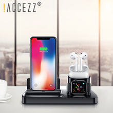 !ACCEZZ Universal Desk Holder 3 In1 Charger For IPhone X XR XS Max Charging AirPods IWatch Huawei Xiaomi Magnetic Charge