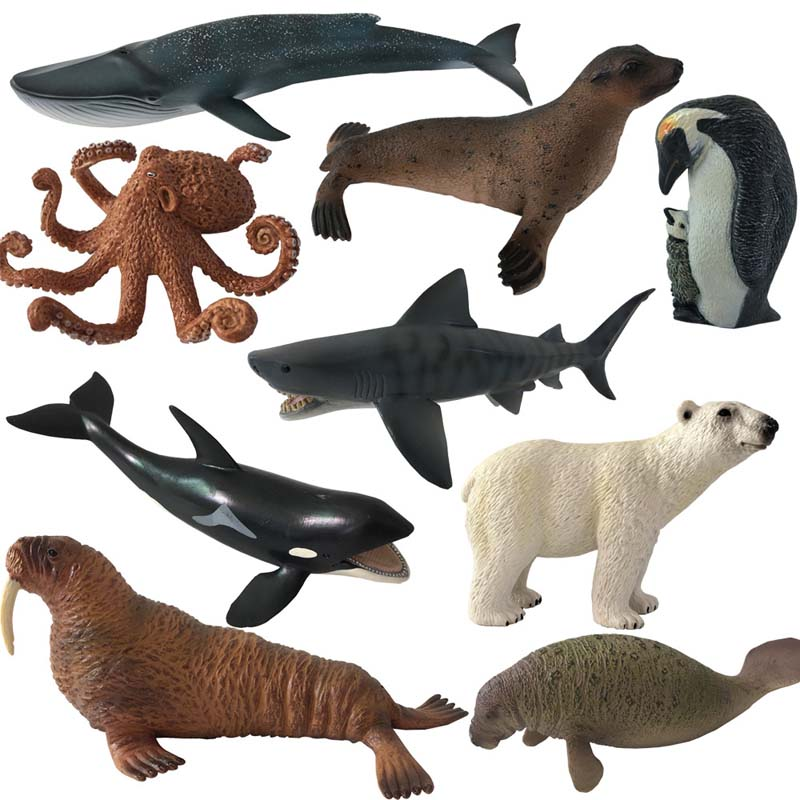 Sea Animals Toys : Ocean sea animals toy blue whale shark jaws tiger