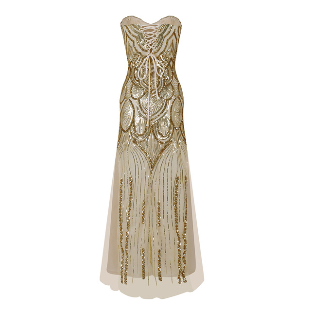 92a1ef9e212d Women's 20s Style Shining Flapper Dress 1920s Vintage Gatsby Great Gatsby  Charleston Sequin Tassel Party Gold Mesh Sequins Dress