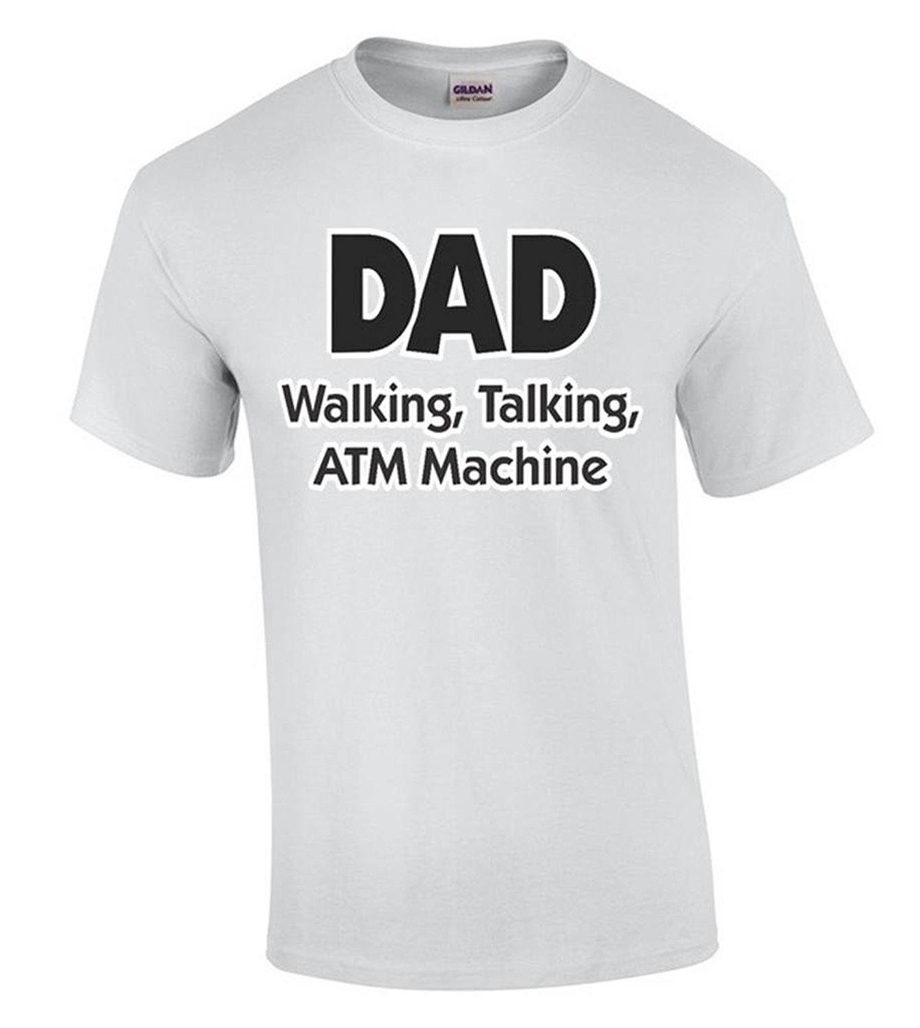 Black t shirt security - New Style Company Tee Shirts Dad T Shirt Walking Talking Atm Machine Shirts 100