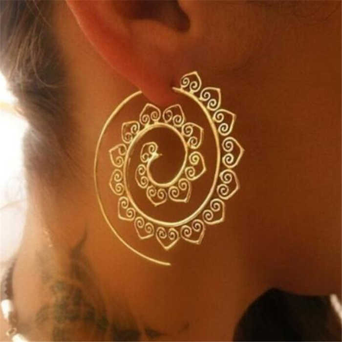New Simple Style Fashion Silver Gold Color Earrings for Women Square Round Geometric Hanging Earrings Female Jewelry
