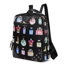 2016 New Women Backpack Female Nylon Women's Backpacks Printing Bagpack Casual Bags Rivet Travel Bag big back pack Free Shipping