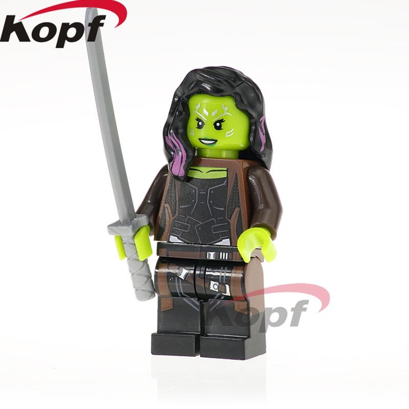 XH 824 Super Heroes Infinity War Gamora Iron Man Doctor Stranger Falcon Proxima Night Building Blocks Bricks For Children Toys