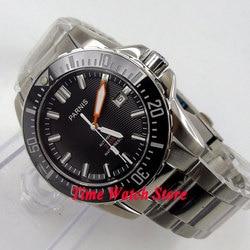 Solid 43mm PARNIS watch Diver watch Sapphire glass Ceramic Bezel black dial luminous MIYOTA Automatic movement Men's watch 473