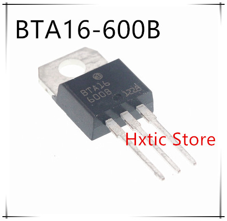 10pcs BTA16-600B TO-220 BTA16-600 TO220 16-600B BTA16 600V 16A TRIACS New And Original