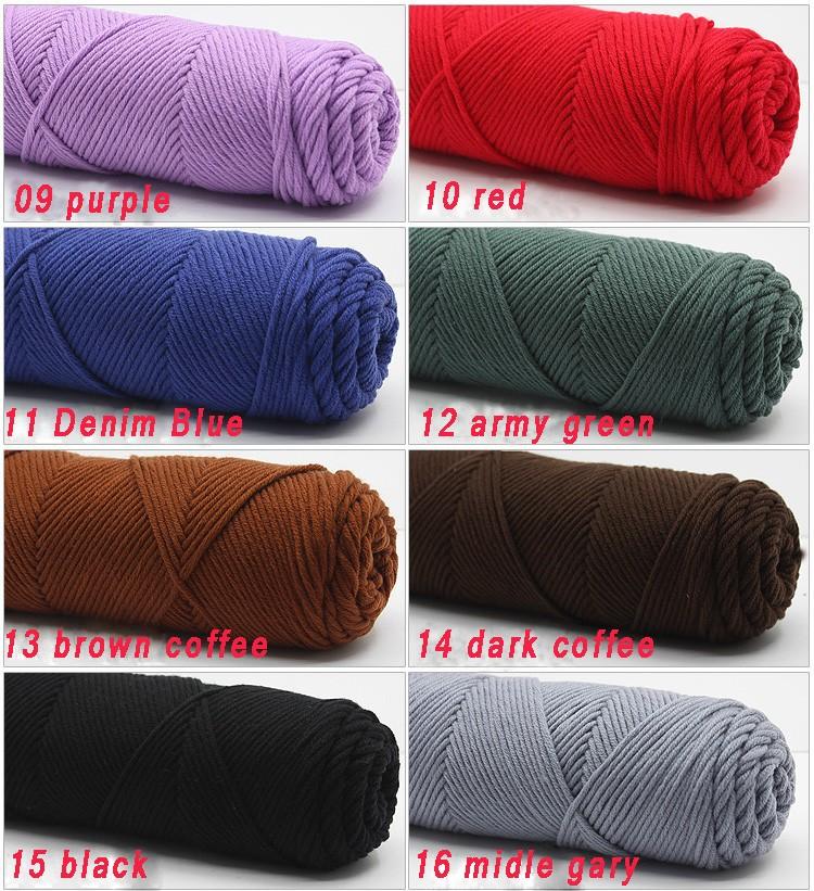 100g/pcs Natural Soft Silk Milk Cotton Yarn Thick Yarn For Knitting Lover Scarves Knitting Wool crochet yarn weave thread 8