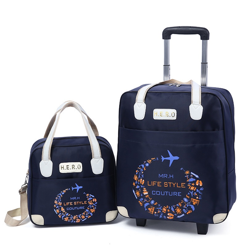 Set luggage portable trolley travel bag trolley bag women fashion lightweight large capacity short distance suitcase