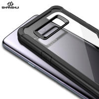 Case for Samsung Galaxy S8 Plus Crystal Clear Transparent Ultral Slim Soft PC TPU Silicone Bumper Shockproof Anti Scratch Cover