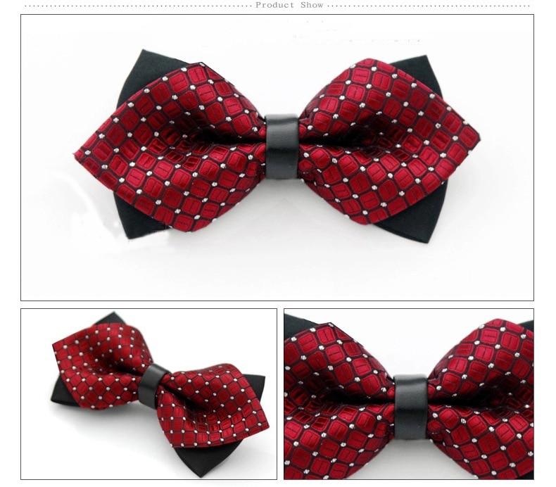 Új poliészter férfi csokornyakkendő Noeud papillon márka klasszikus pont nyakkendő Bowtie a férfiak szabadidős üzleti ingek Bowknot csokornyakkendő Cravats