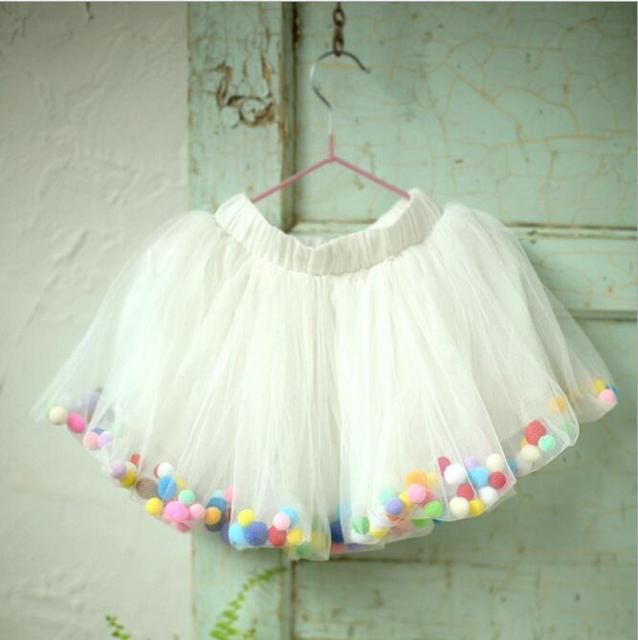 41de3505f1b5 Baby Girls Pom Pom Lace skirts Babies Princess tutu Skirts 2017 Kids ...