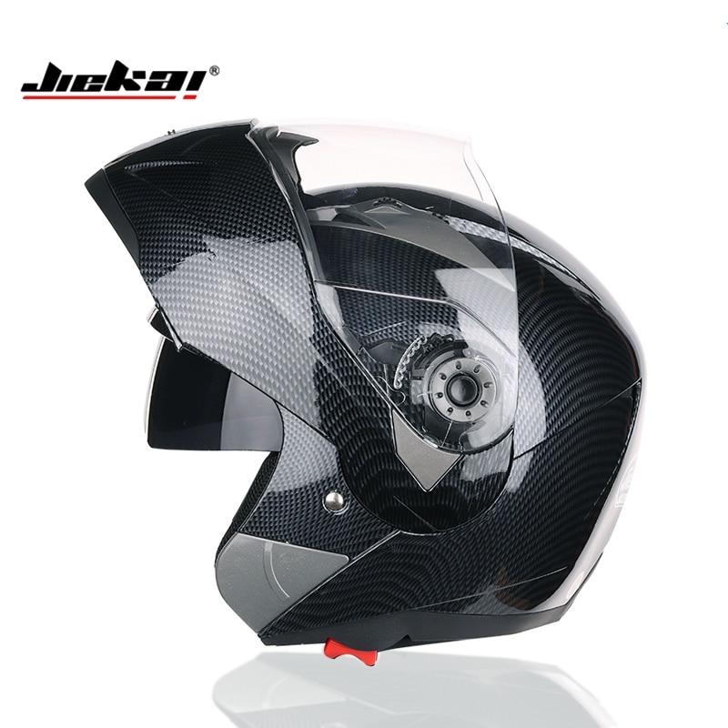 New JIEKAI undrape face Motorcycle helmet open face motorbike helmets imitation carbon fiber gray color size