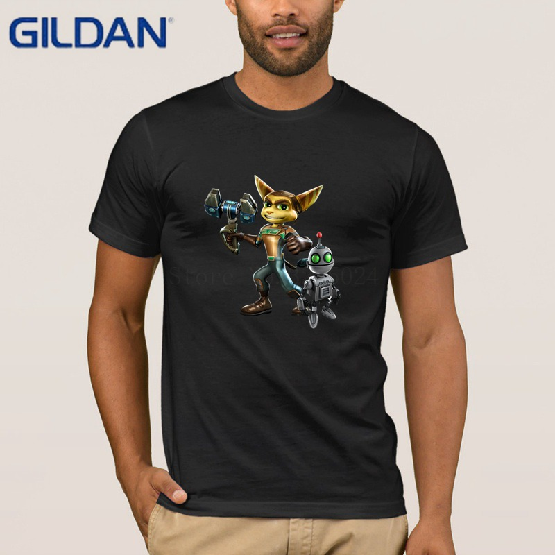 Gildan Creative Clothes Tshirt Mens Ratchet Clank T-Shirt Mens Anti-Wrinkle Classic T Shirt For Mens Trend Cheap