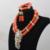 Sistemas de la Joyería de Las Mujeres de Coral Coral Natural Collar de Perlas Collares Pulseras Set Colgante de Oro Envío Libre CNR743