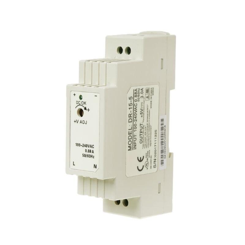 DR-15W Industrial carril DIN fuente de alimentación conmutada 5 V 12 V 15 V 24 V