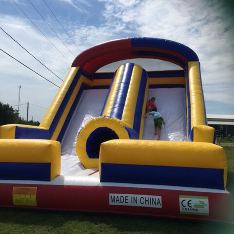 Nice Quality Backyard Double Lane Inflatable Dry Slide Water Slide For Sale 7lx4wx4h commercial pvc tarpaulin double lane kids giant inflatable slide for sale
