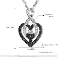 ROAMD cross border fashion pendant female Rose gold and white gold heart shaped ladies copper necklace