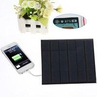 6 V 3.5 W סוללה מטען נסיעות USB פנל סולארי 580-600MA טלפון iphone 5 5s 6 6 s 6 plus htc samsung bb xiaomi huawei