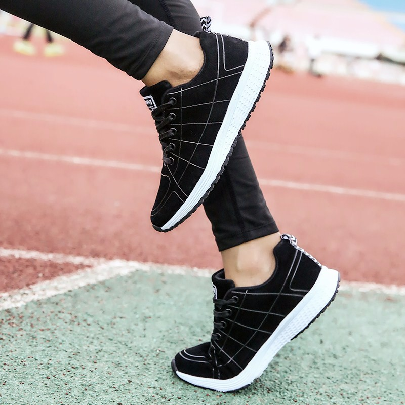 Fashion Women Shoes Breathable Air Mesh Trainers 2017 Spring New Low Toe Sport Casual Shoes Striped Lace Up Women Shoes YD145 (5)