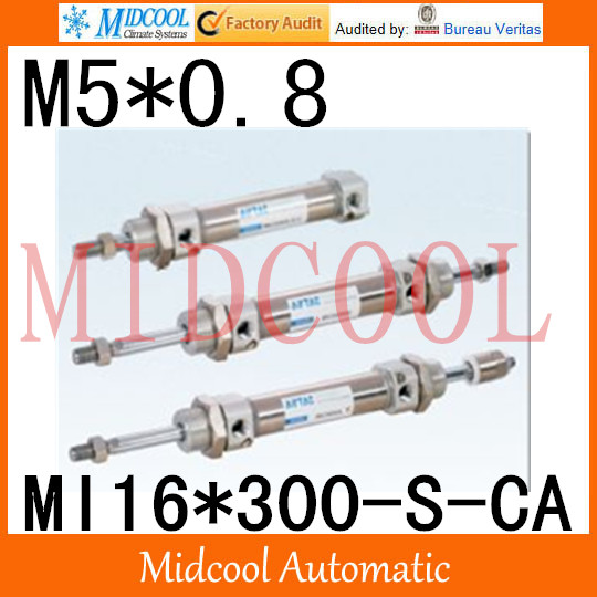 MI Series ISO6432 Stainless Steel Mini Cylinder  MI16*300-S-CA  bore 16mm port M5*0.8 купить в екатеринбурге переходник mini iso
