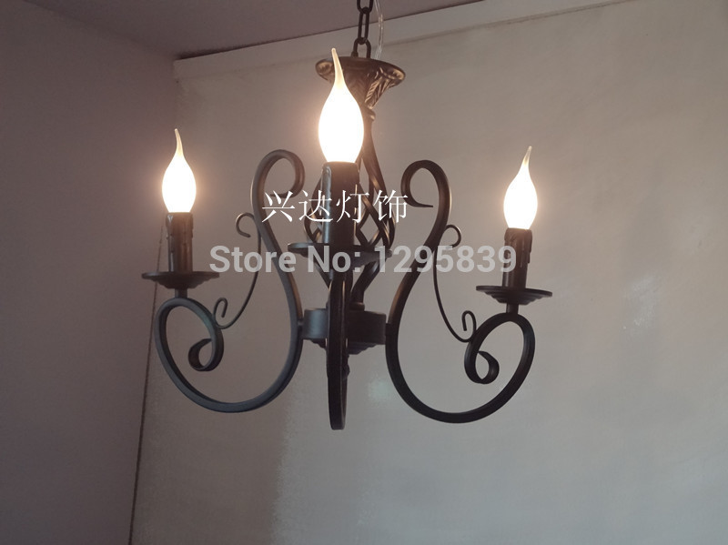 Multiple Chandelier Rustic candle bedroom lamps Restaurant Continental Iron ZX84 continental iron candle chandelier bedroom garden bar restaurant lights retro clothing store america