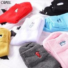 Women Fashion Embroidery Dog Patterns Cotton Winter Socks
