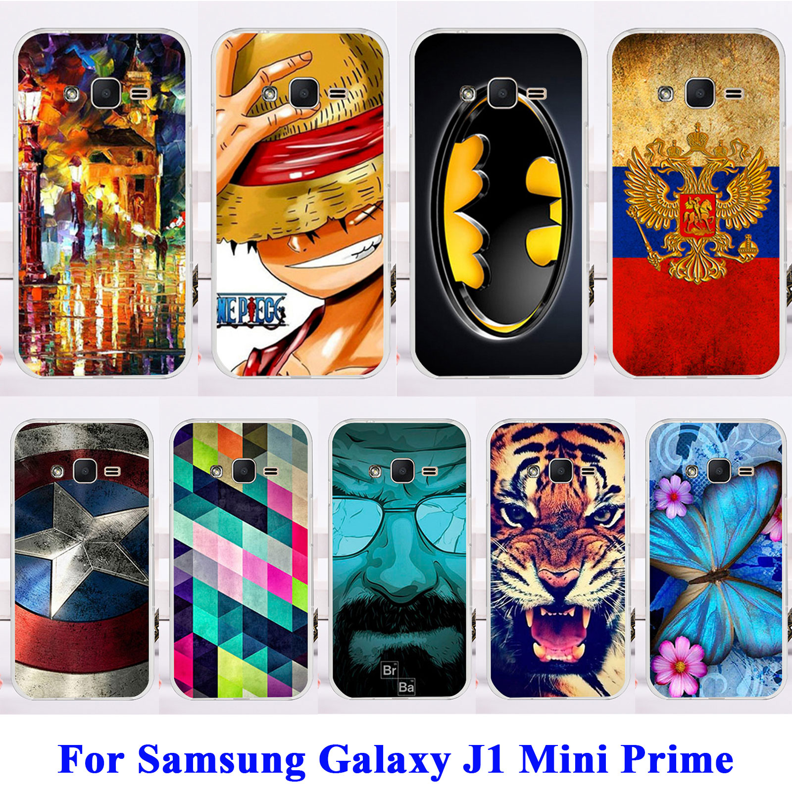 AKABEILA Soft TPU Hard Pplastic Cell Phone Cases For Samsung Galaxy J1 Mini Prime SM-J106 Shell Cover Captain American Skin Bags